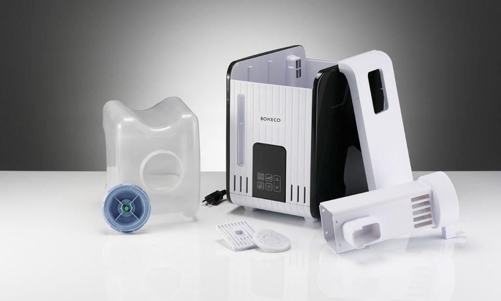 Увлажнитель Boneco S450 в разборе: бак для воды, испаритель