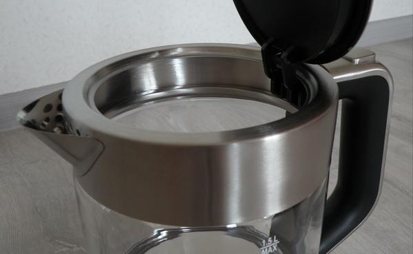 Крепление верхней части стеклянного чайника