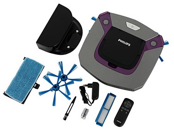 Комплект поставки робота пылесоса Philips FC8796