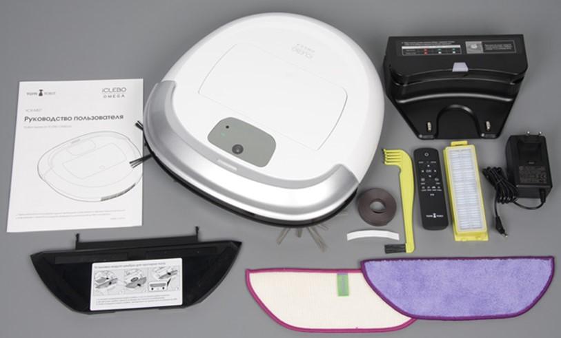 Комплект робота-пылесоса iclebo omega