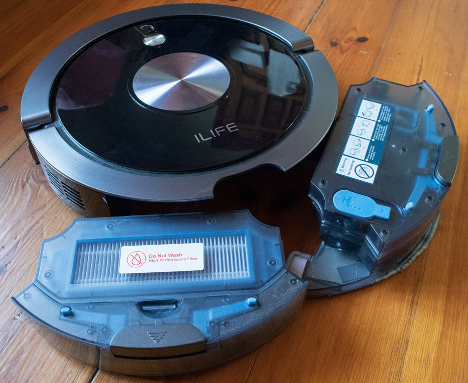 пылесборник и влажная уборка робота пылесоса iLife A9s