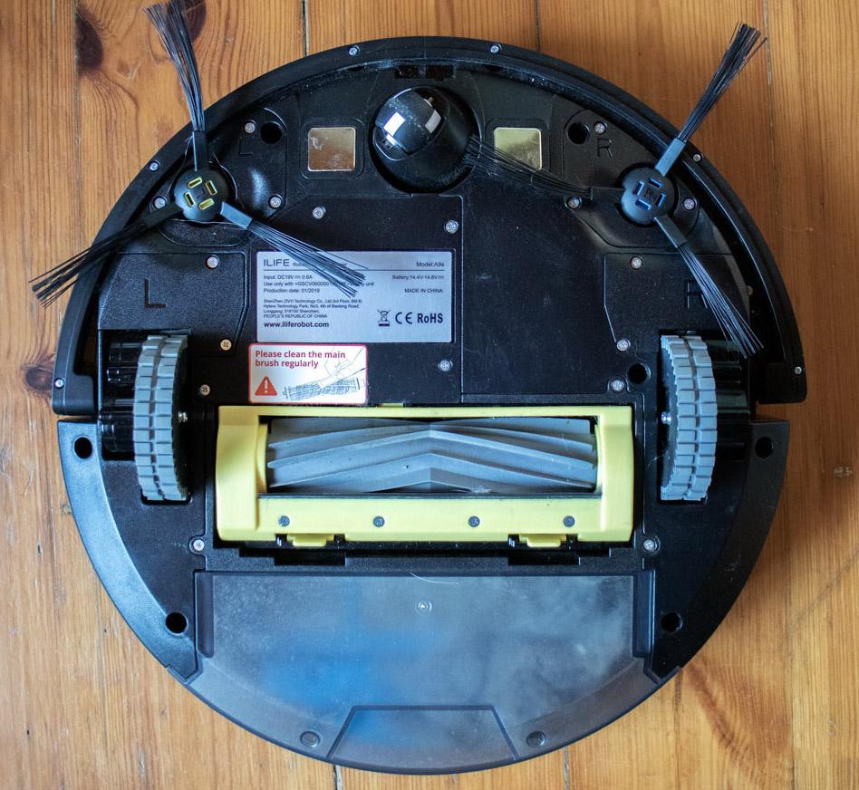 робот пылесос iLife A9s снизу