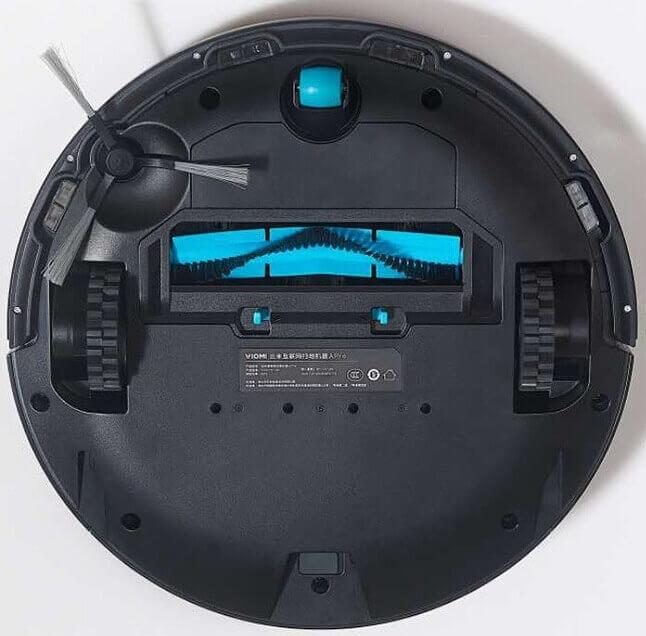 робот-пылесос Xiaomi Viomi Cleaning Robot Black V-RVCLM21B снизу