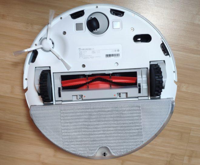 робот пылесос xiaomi mijia robot 1c sweeping vacuum cleaner снизу