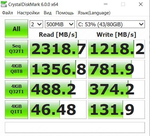 CrystalDiskMark Dell Vostro 5391-8672