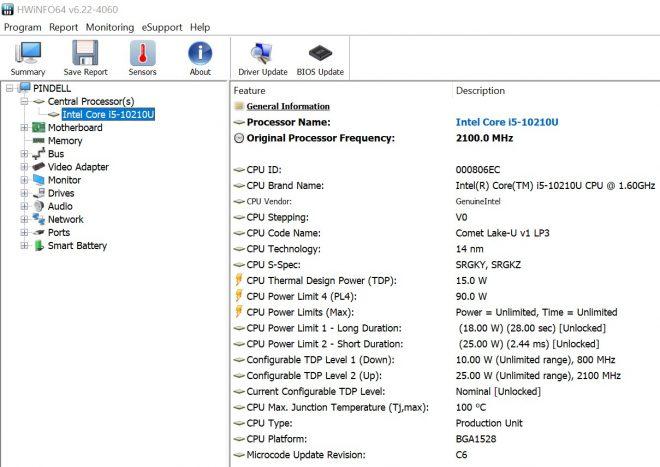 i5-10210U in Dell Vostro 5391-8672