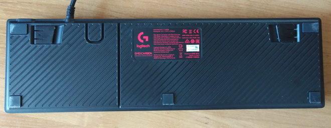 Тыльная сторона Logitech G413 Carbon Black USB