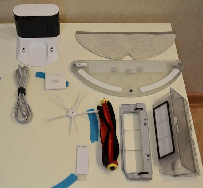 комплект поставки робот-пылесос Xiaomi Roborock s6 pure